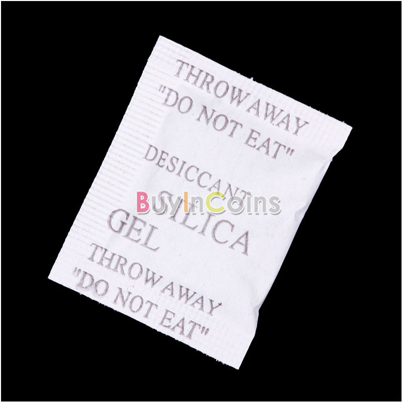 100 Packs 1g Silica Gel Desiccant Sachet Pouches Water Strong Adsorb Moisture фото