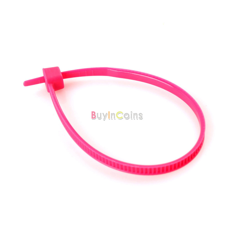 100PCS Mixed Color Plastic Cable Ties Wrap 102mm X 2mm Zip Tie Cable Wire Tidy фото