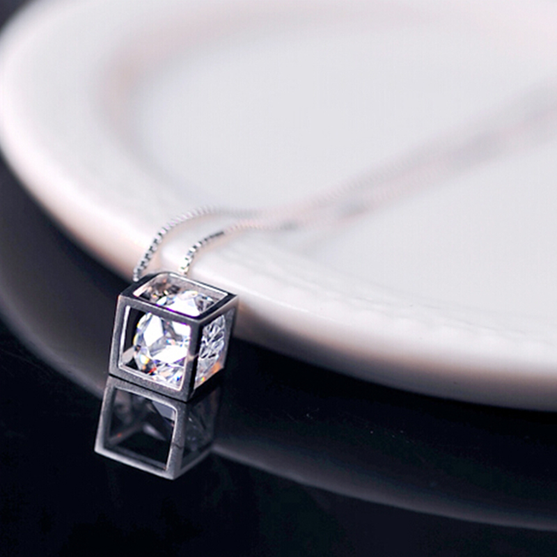 Fashion Women's Silver Crystal Rhinestone Pendant for Necklace Chain Jewelry фото