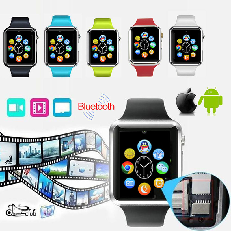 A1 Bluetooth Smart Wrist Watch Phone Mate For Android IOS iPhone Smartphone фото