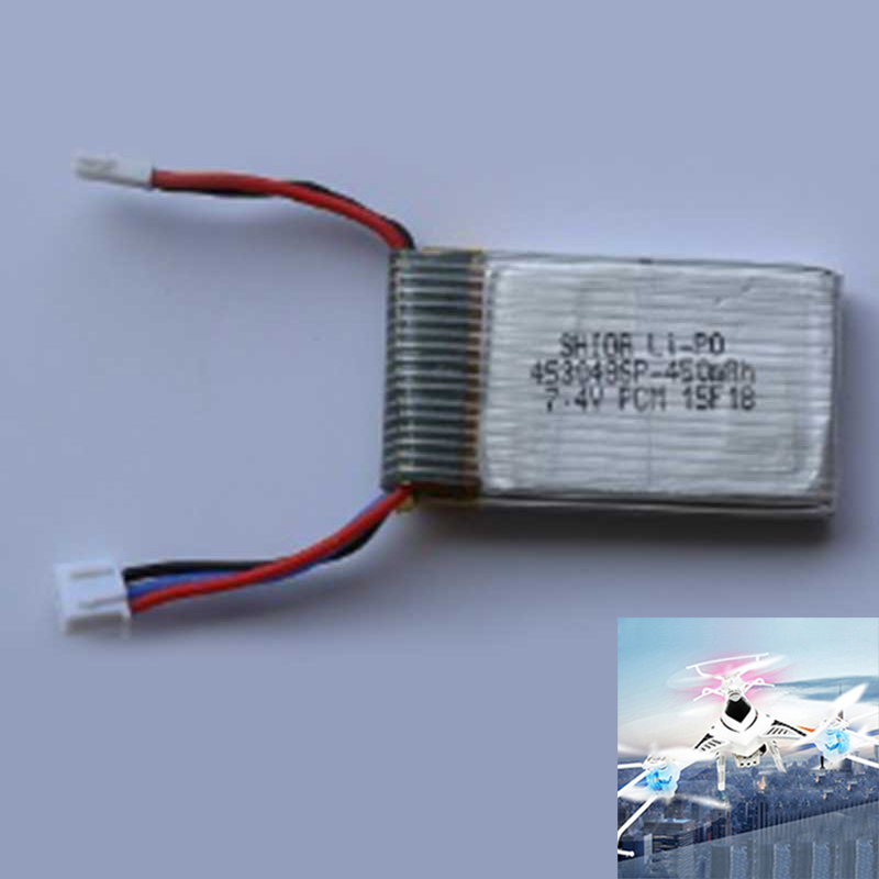 7.4V 450mAh Lipo Battery for Cheerson CX-32/33W CX-32/33S RC Quadcopter Parts фото