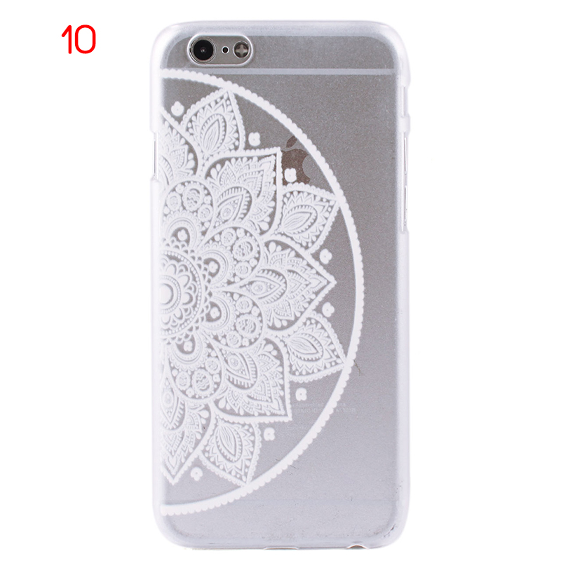 New Mandala Matte Floral Flower Clear Hard Case Cover for iPhone 6/6s 4.7