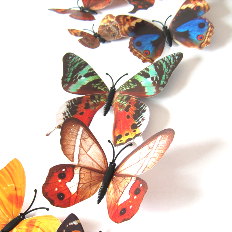 3D Colorful Butterfly Sticker Art Decal Wall Stickers Home Decor Room Decor фото