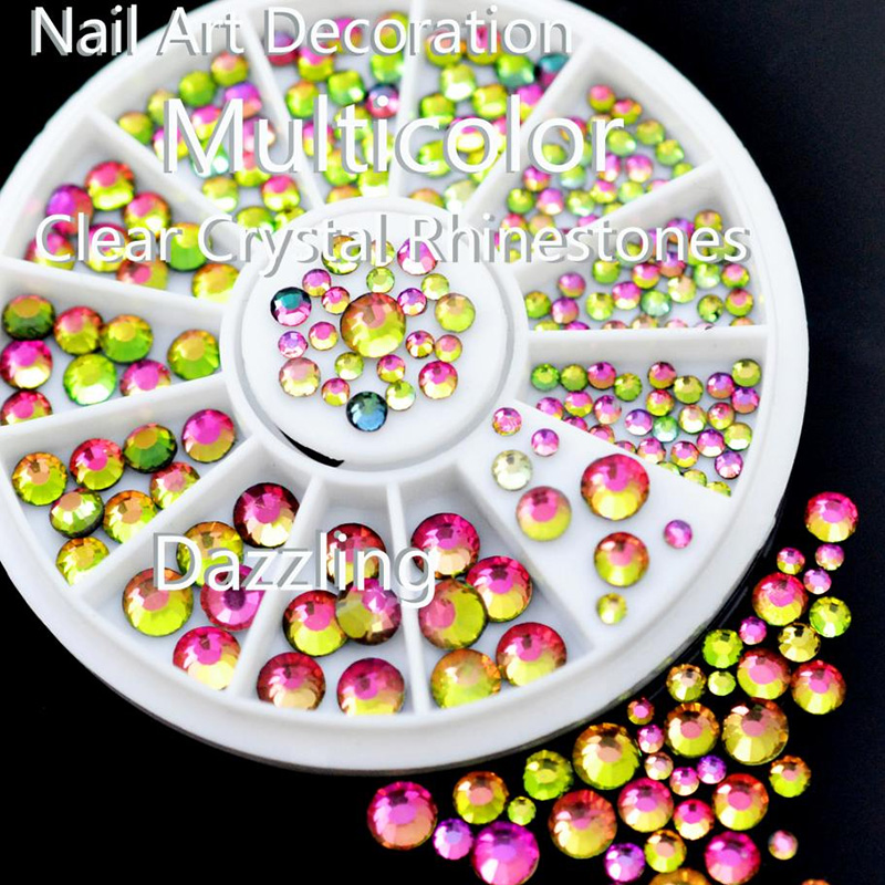 3D Jewellery nail rhinestone faceted Crystal deco nail art tip manicure #R29#R30 фото