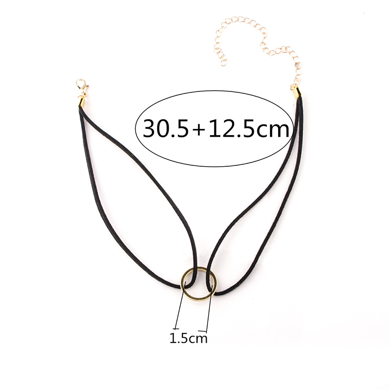 New Velvet Gold Round Pendant Choker Chain Necklace Collar Gothic Charm Jewelry фото