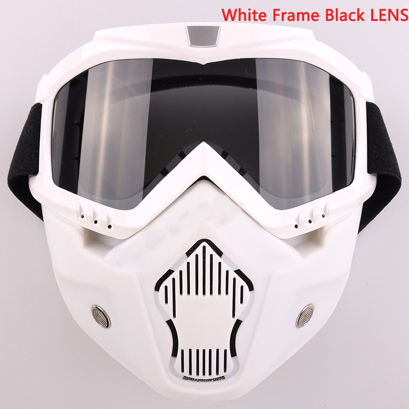 Motorcycle Goggles Nose Face Mask Protective Helmet Riding Shield Flexible