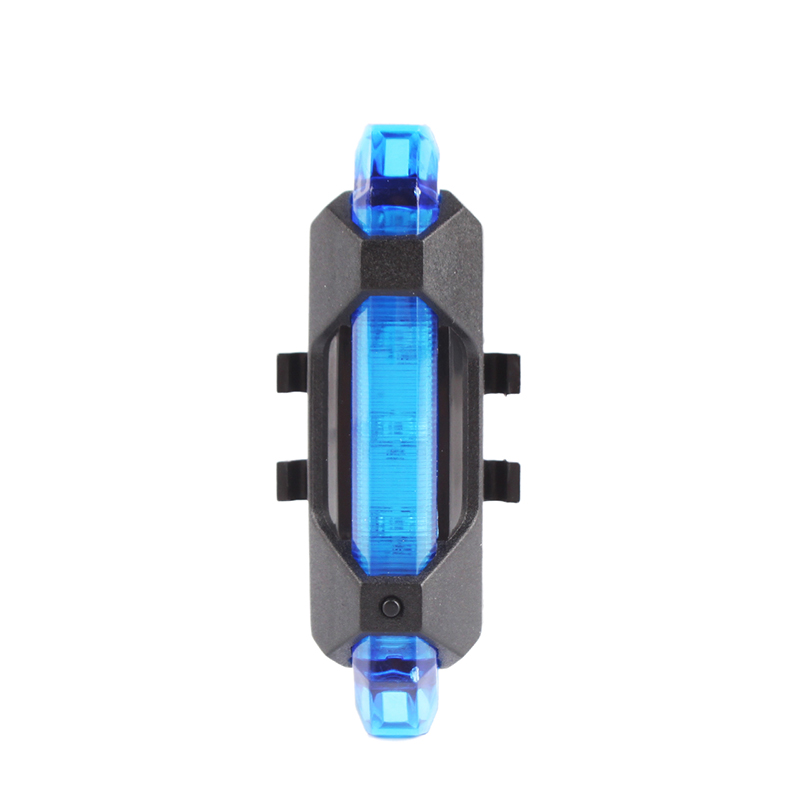 5 LED Bicycle Cycling Tail USB Rechargeable Red Warning Light Bike Rear Safety