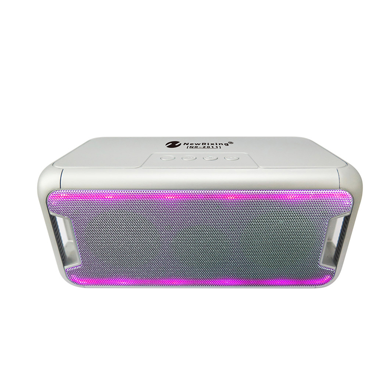 NR-2011 Wireless LED Bluetooth Speaker Subwoofer Support USB/TF Card/FM Radio фото