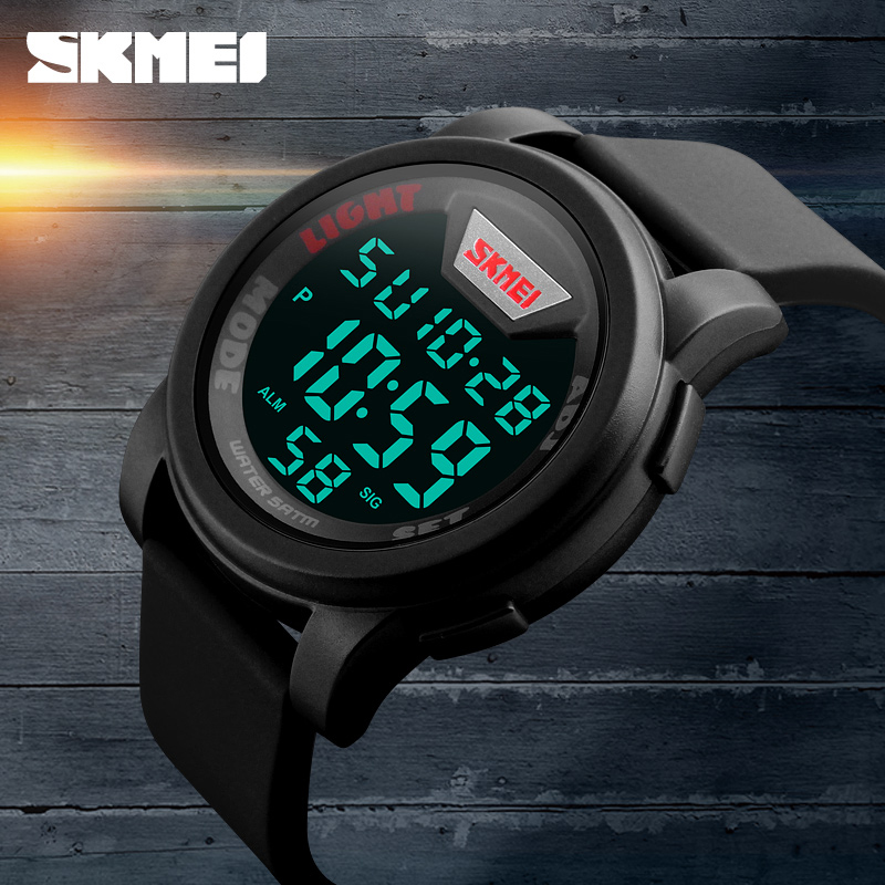 SKMEI Military Watch Mens LED Digital Date Waterproof Sport Analog Quartz Wrist Watch фото