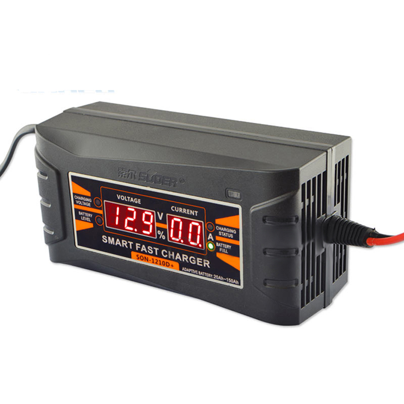 12V 10A Smart Car Motorcycle Universal Storage Battery Charger With LCD Display фото