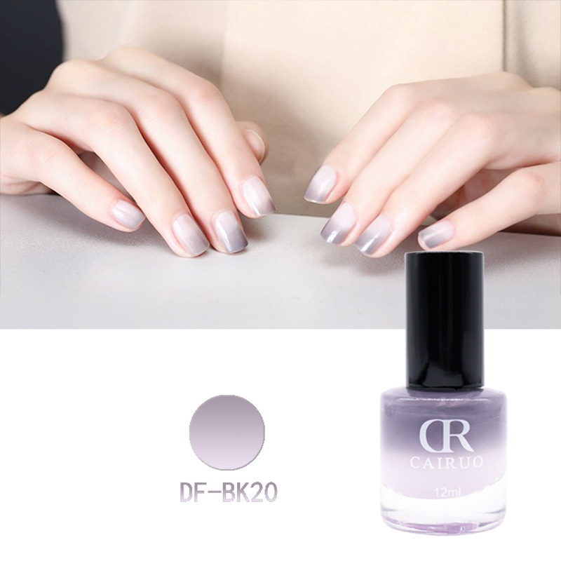 New Professional Thermal 12Ml Color Changing Nail Art Cosmetic Party Peel Off Gel Nail Polish
