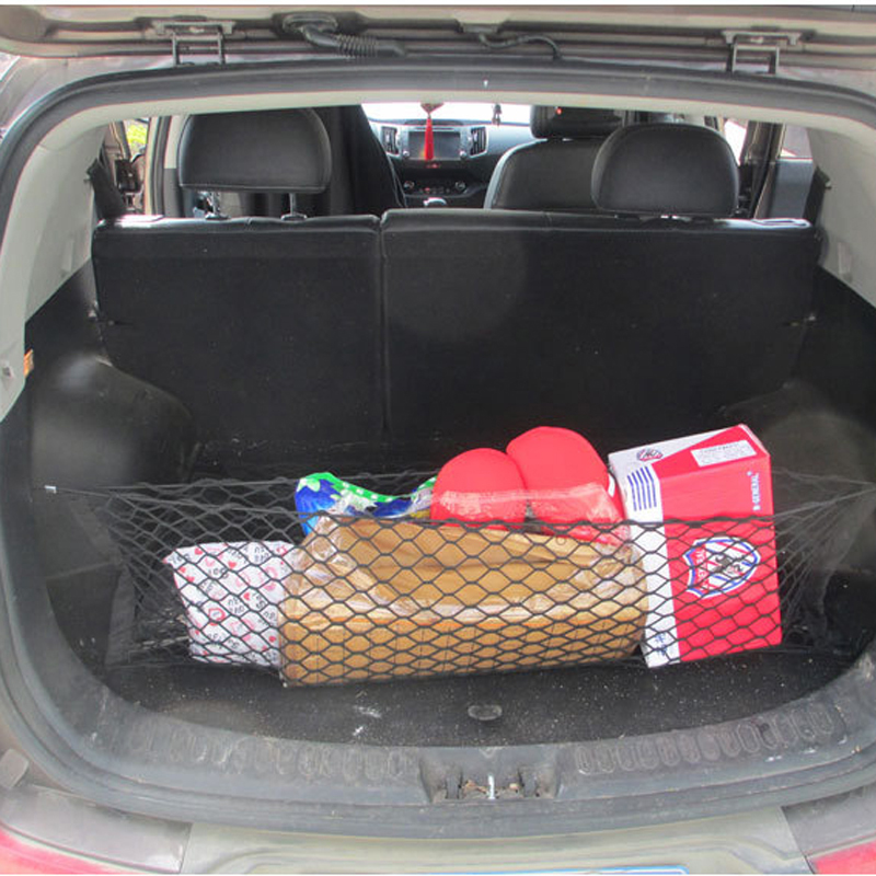 1PC Nylon Car Trunk Rear Cargo Organizer Black Storage Elastic Mesh Net Holder фото