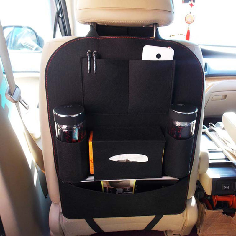Auto Car Seat Back Bag Organizer Holder Storage Multi-Pocket Travel Bag Hanger Accessories фото