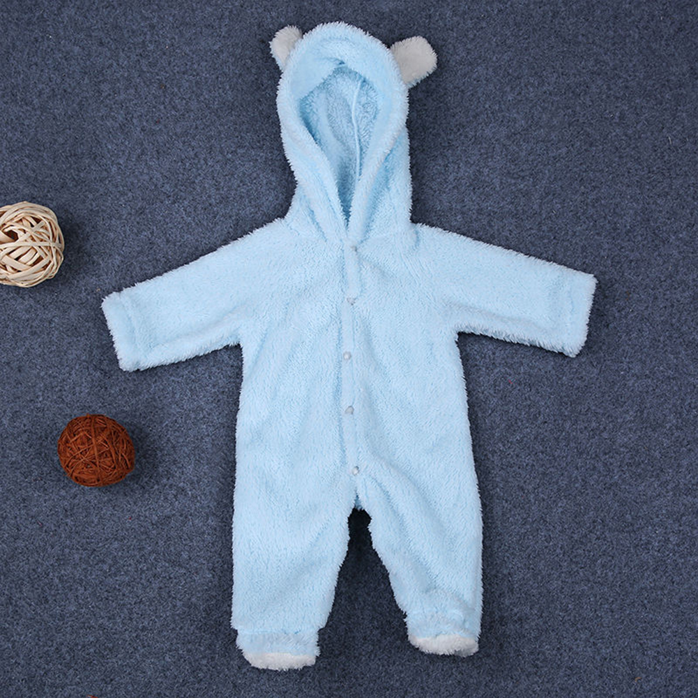 New Baby Infant Newborn Boy Girl Romper Hooded Jumpsuit Bodysuit Outfits Clothes  Hooded