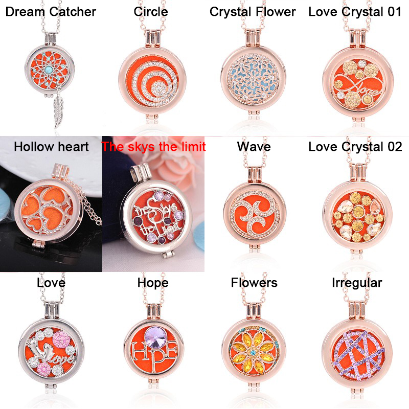 Living Memory Locket Fragrance Essential Oil Aromatherapy Diffuser Pendant Necklace DIY Jewelry Gift фото