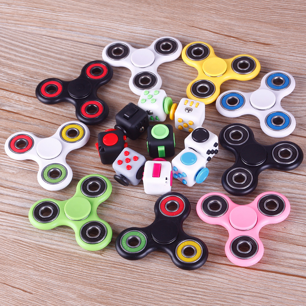 Lovely Fidget Cube Funny Toy Kids Adults Reduce Anxiety Stress Best Gift & Tri EDC Hand Spinner Fidget Finger Ball фото