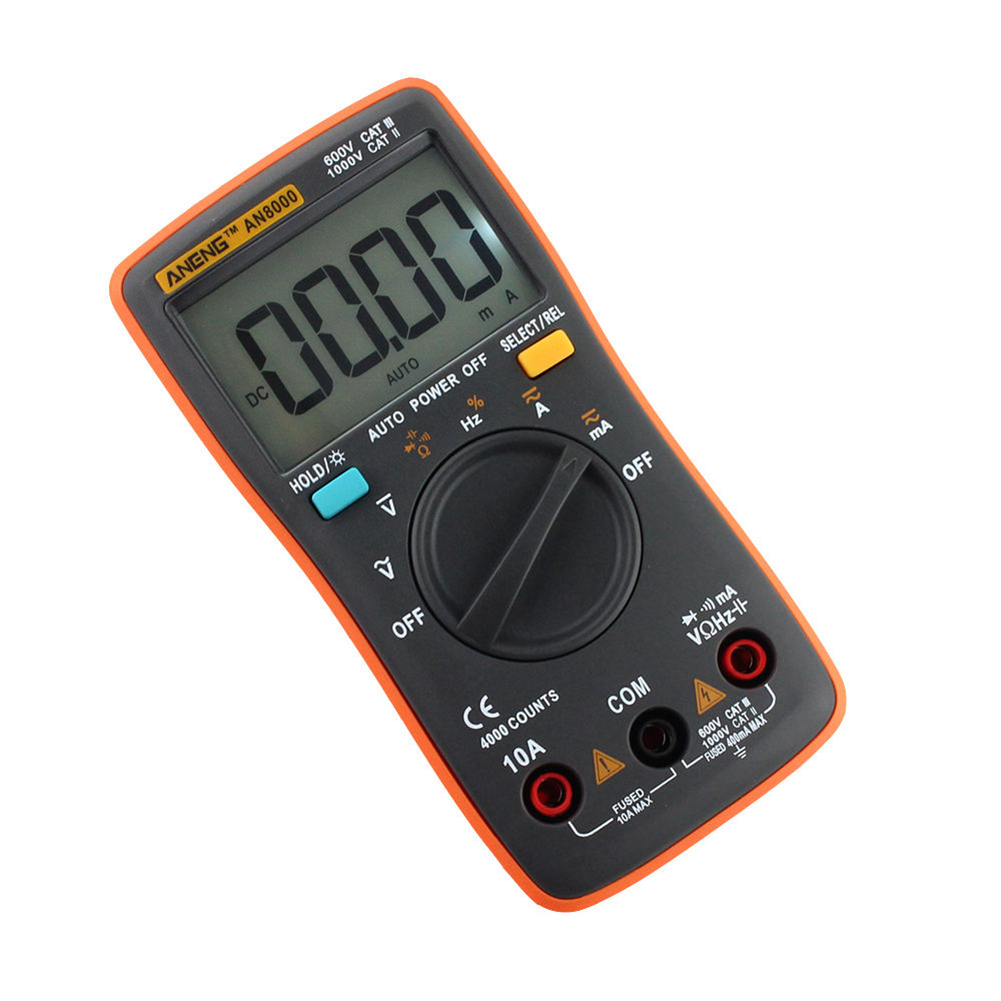 ANENG AN8000 Digital Multimeter AC/DC Auto Range Ohm Ammeter Tester LED фото
