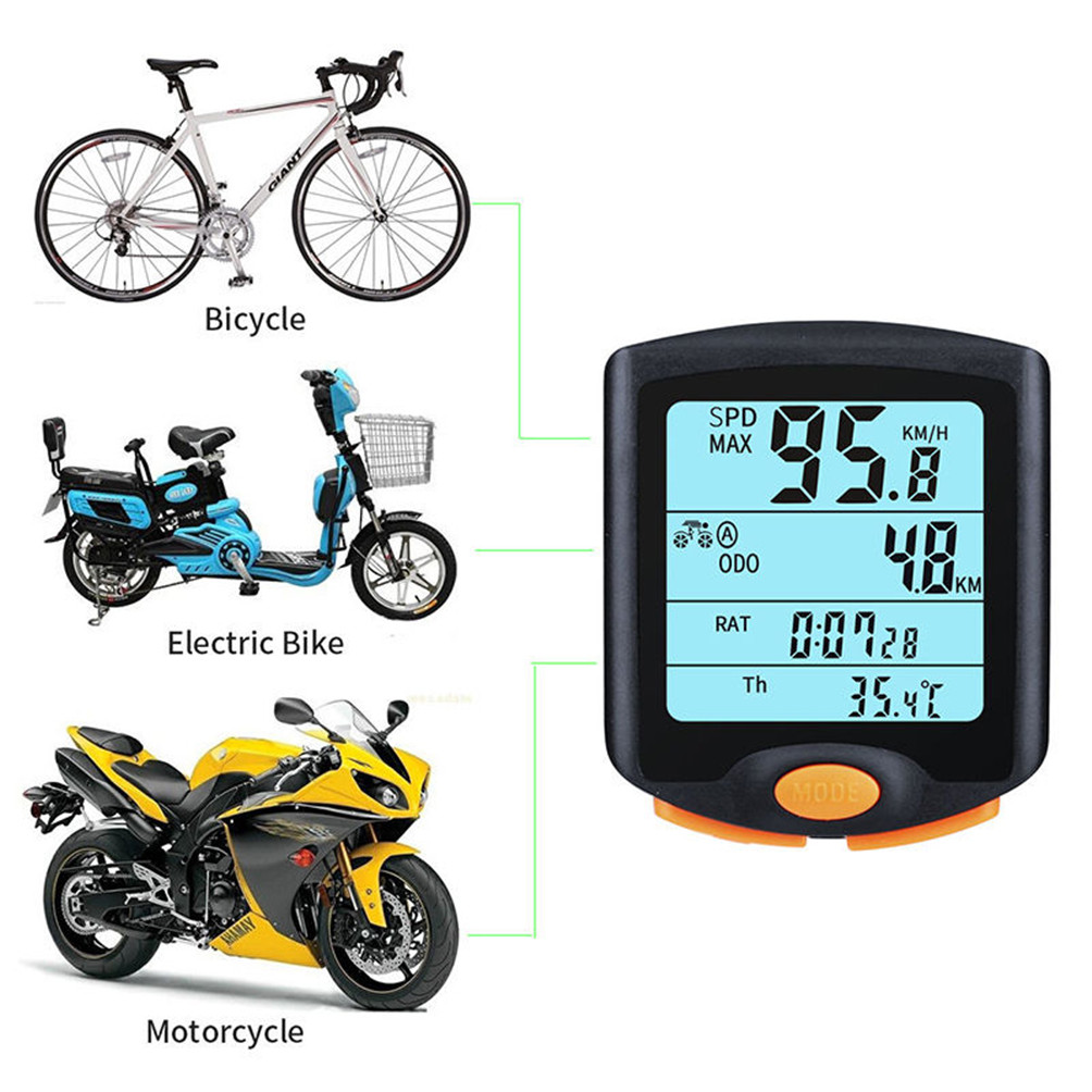 HOT Bike Cycling Bicycle Cycle Computer Odometer Speedometer Backlight фото