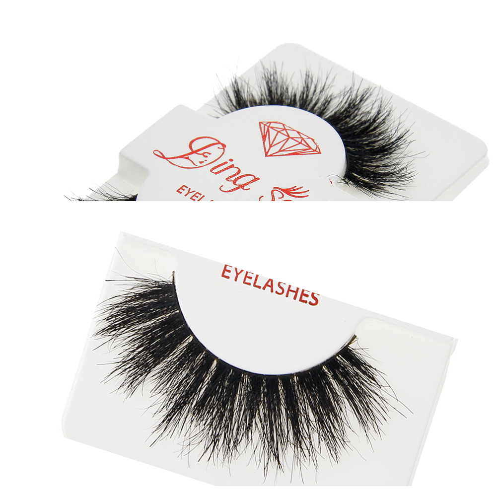 Women Beauty Soft Design 3D Horse Hair Thick False Eyelashes Cross Messy Long Natural Eye Lashes 1 Pairs Party фото