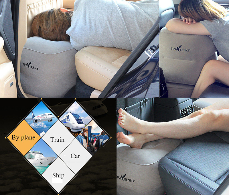 Three Layers Inflatable Travel Footrest Leg Rest Travel Pillow Air Cushion Rest Pillow фото