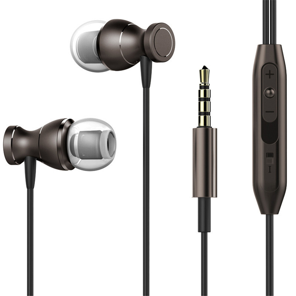 3.5mm Super Bass Magnetic Earbuds with Mic In-ear Stereo Headset Headphone Waterproof