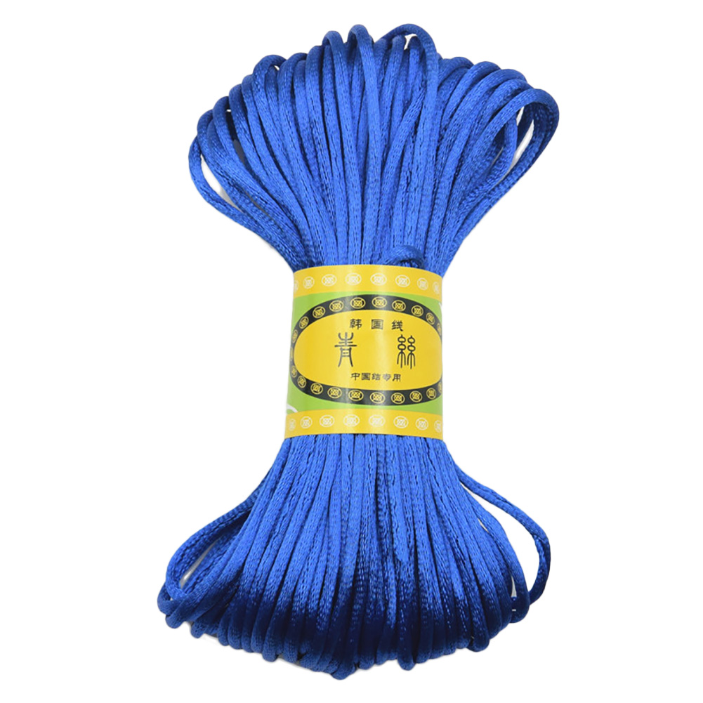 3mm 20M Chinese Knot Satin Nylon Braided Cord Macrame Beading Rattail Cords Multi-colored фото