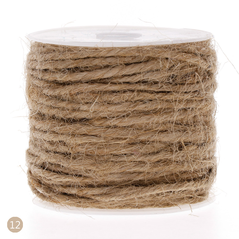 10M DIY Color Hemp Rope 2mm Natural Craft Jute Rope Cord Thick String фото