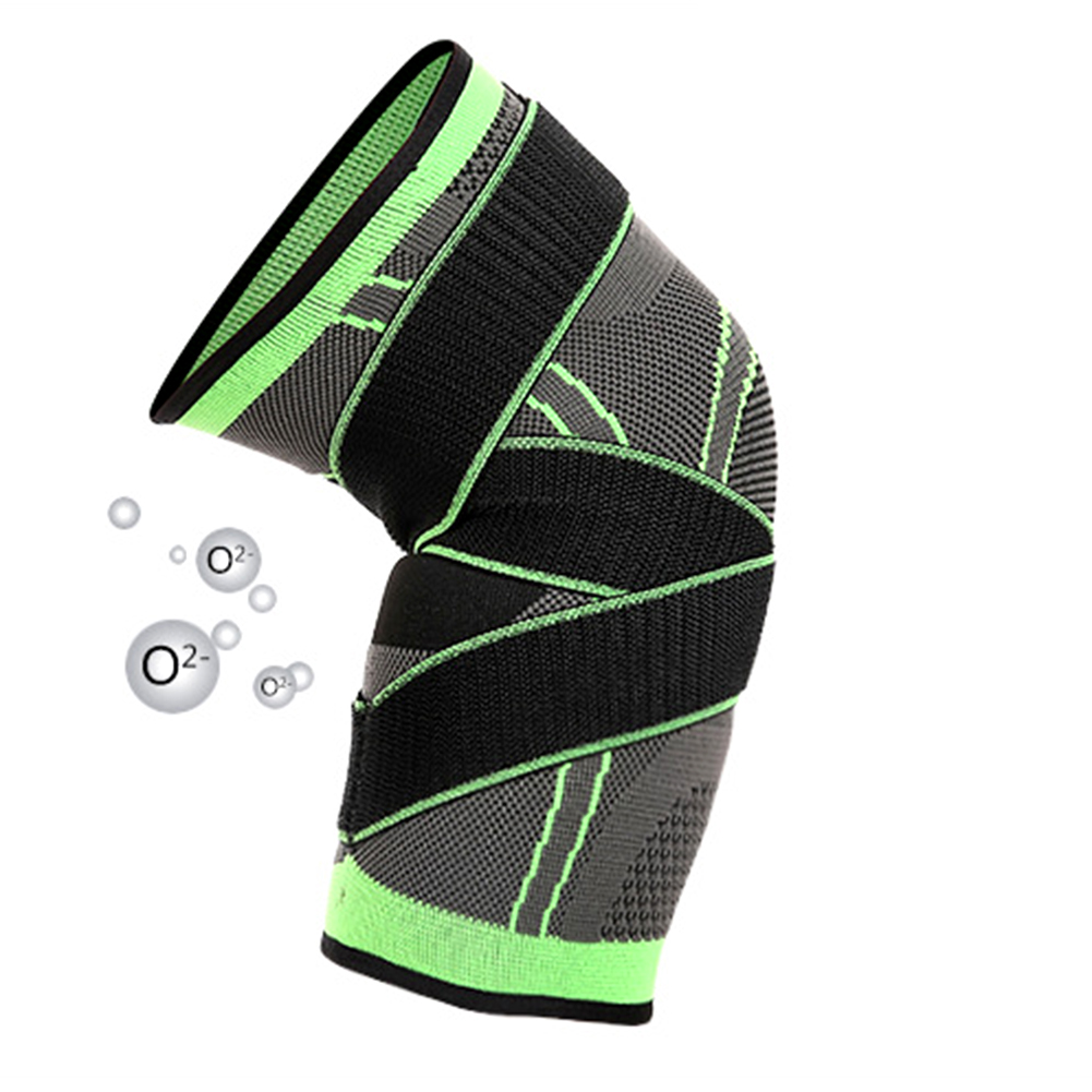 Professional 3D Weaving Sport Pressurization Knee Pad Gym Basketball Knee Support Brace Injury Pressure Protect фото