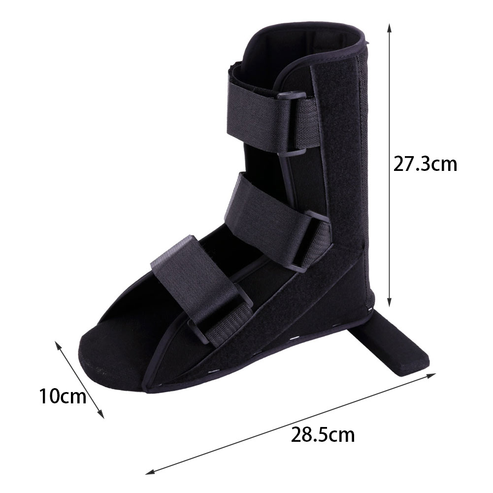 1PCS Black Adjustable Soft Foot Fracture Recovery Night Splint Plantar Brace Ankle Support Rehabilitation Strap Size S/M/L фото