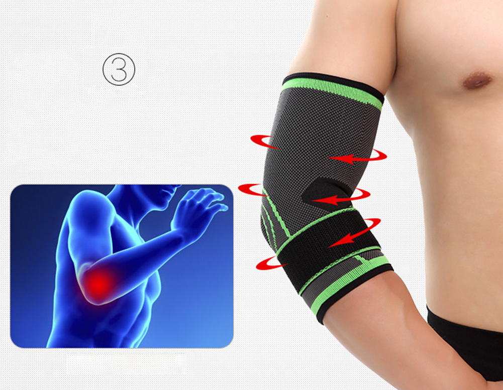 Professional 3D Weaving Sports Elbow Support Brace Elastic Nylon Strap Basketball Fitness Gym Protector Injury Pressure Protect фото