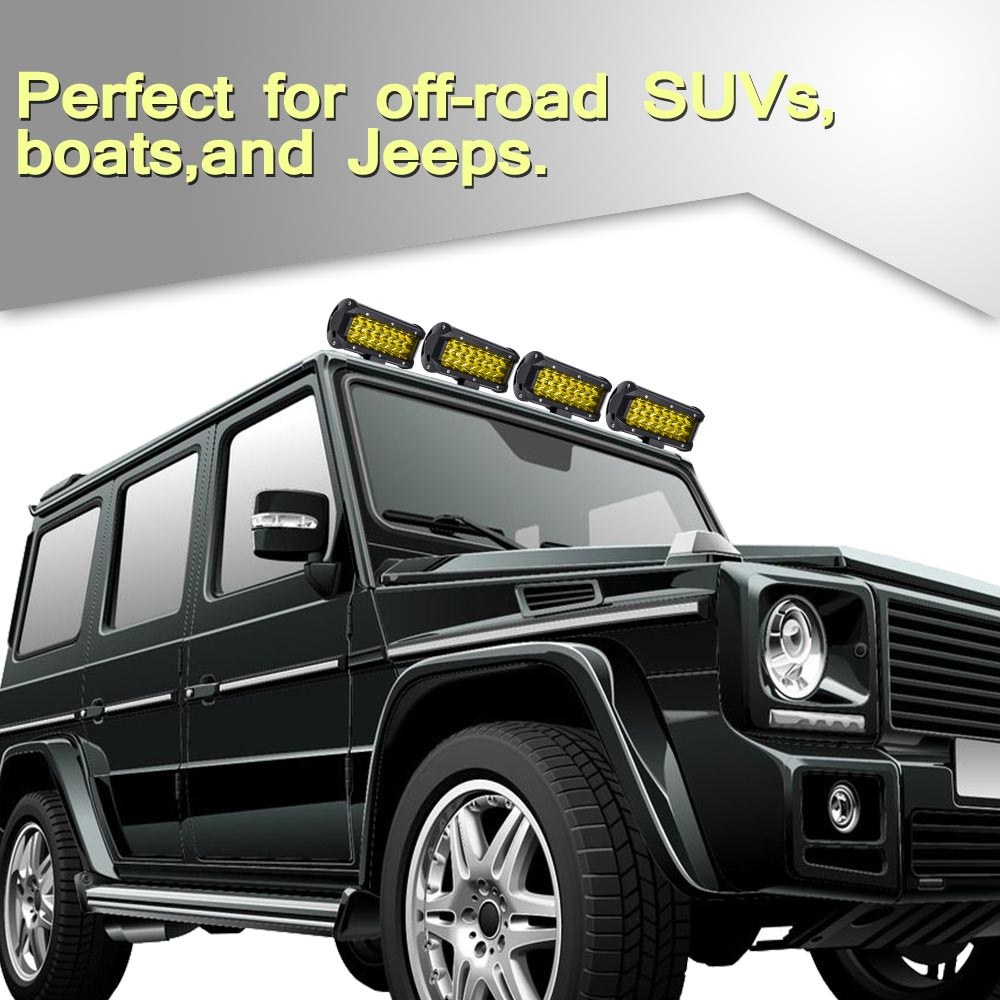 144W LED Light Bar Flood Spot Work Off Road Ford Driving Lamp Fog Driving Yellow Cover фото