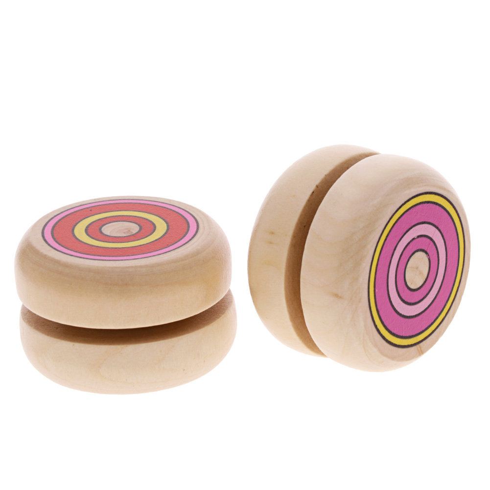 Colorful Random Wood Kids Toys Yoyo Ball Children Funny Playing Toys фото