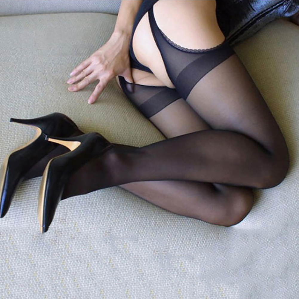 1pc New Jacquard Pierced Nonslip Convenient Stockings Racy Pantyhose фото