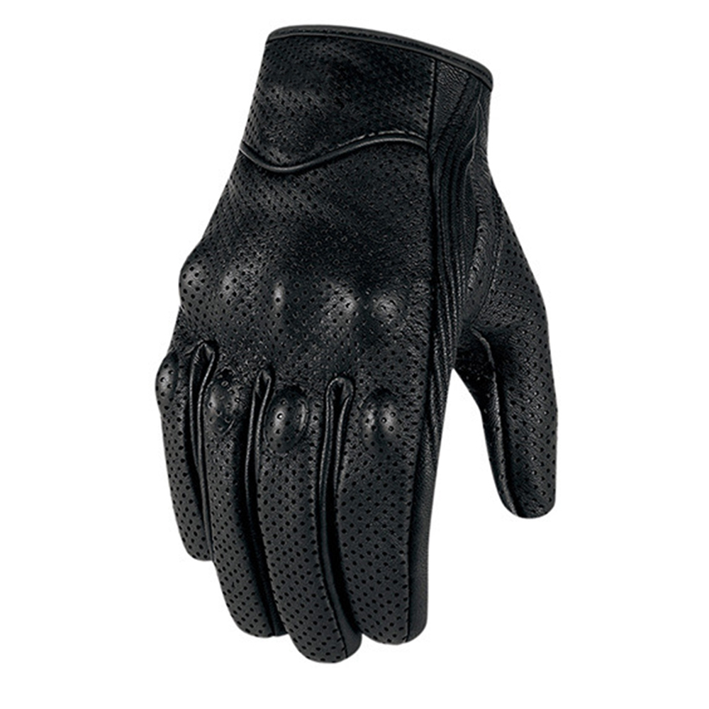 Motorcycle Gloves Cow Leather Touch Screen Cycle Racing Glove Waterproof фото