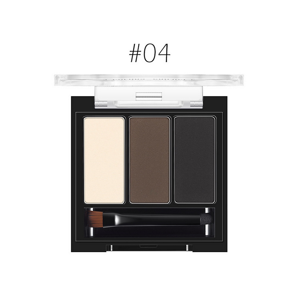 O.TWO.O 3 Colors in 1 Women Beauty Waterproof Eye Shadow Eyebrow Powder Makeup Palette Cosmetic Kit Set with Brush фото