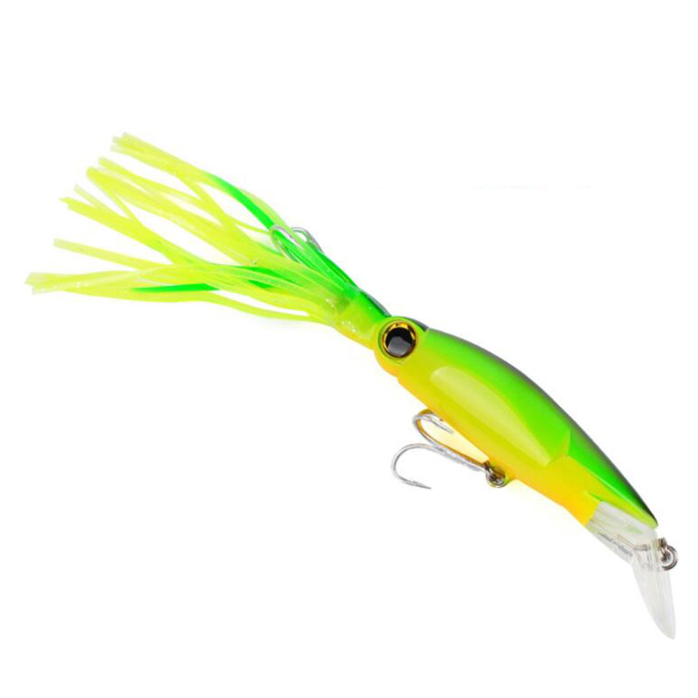 Elegant Fishing Plastic Squid Sleeve-Fish Lures Crankbait Casual Tackle фото