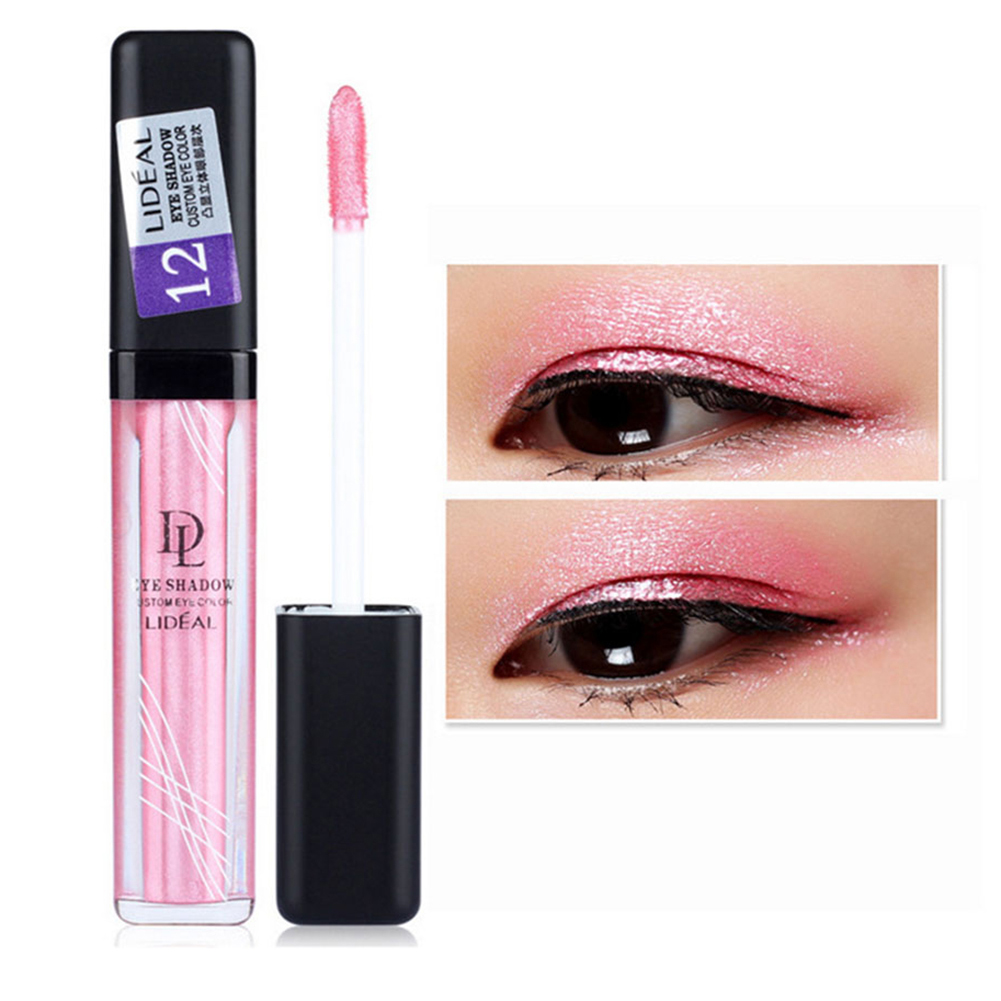 Lideal 7.5g 12 Colors Shiny Metallic Eyeshadow Tattoo Waterproof Glitter Eye Color Liquid Eyeshadow Eye Shadow Pigment Beauty фото