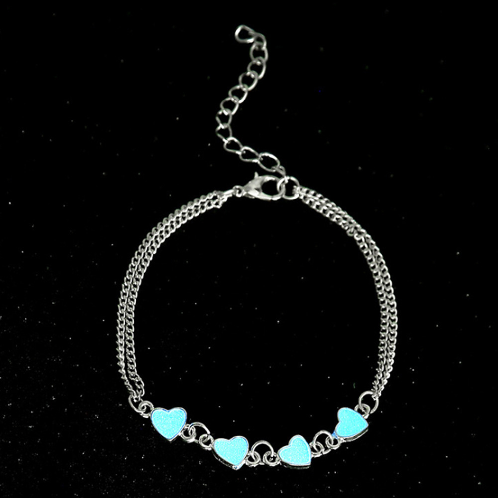 Summer Luminous Ankle Heart Star Pendant Bracelet Sandal Sexy Beach Leg Chain Women Anklets Jewelry фото