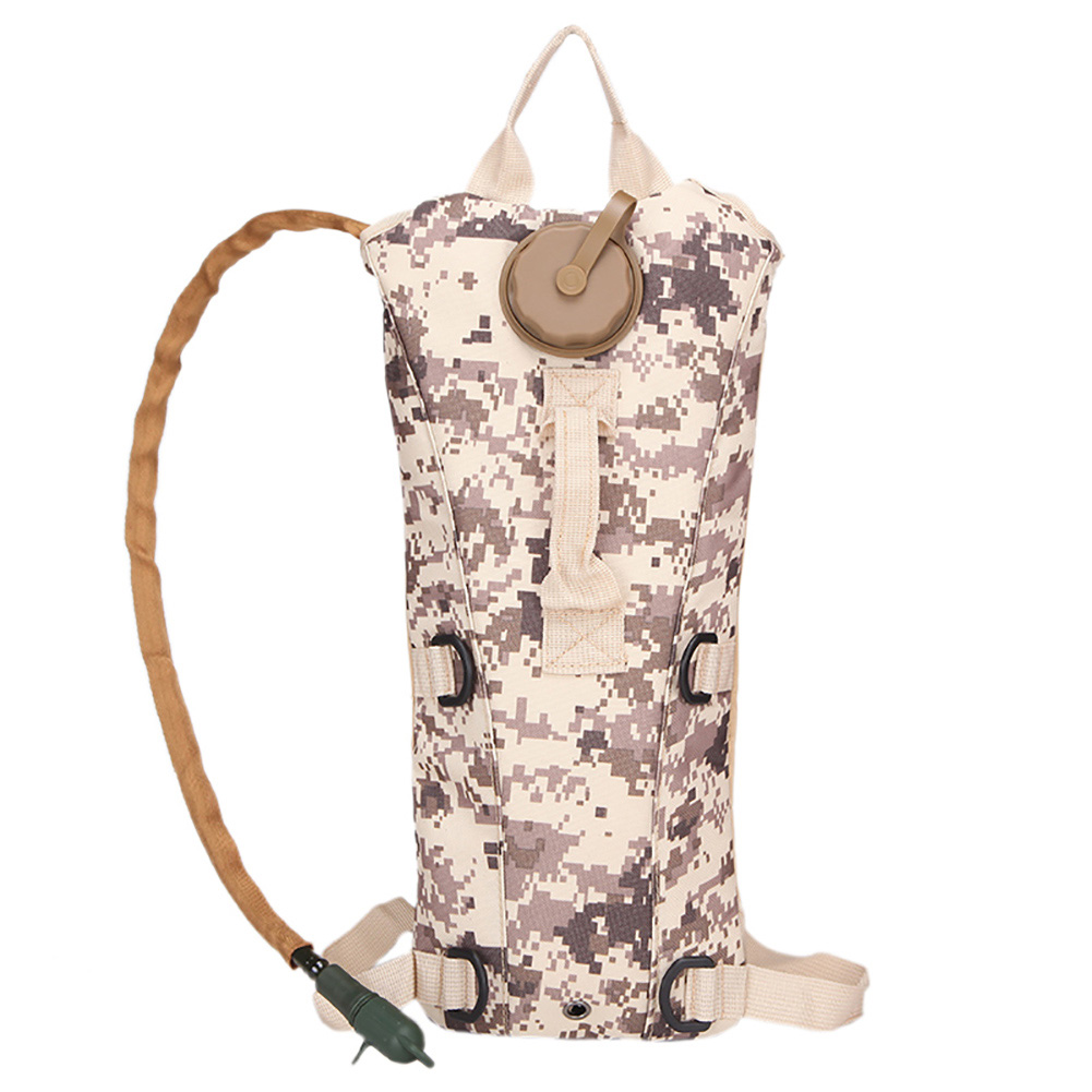 Portable 3LTactical Hydration Pack Cycling Camel Water Bladder Bag Camouflage Hiking Backpack