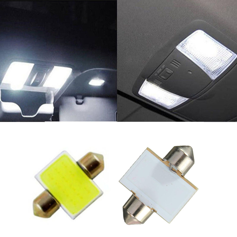 1Pcs 31mm 12smd COB LED Bulbs For Car Interior Dome Map Lights White фото