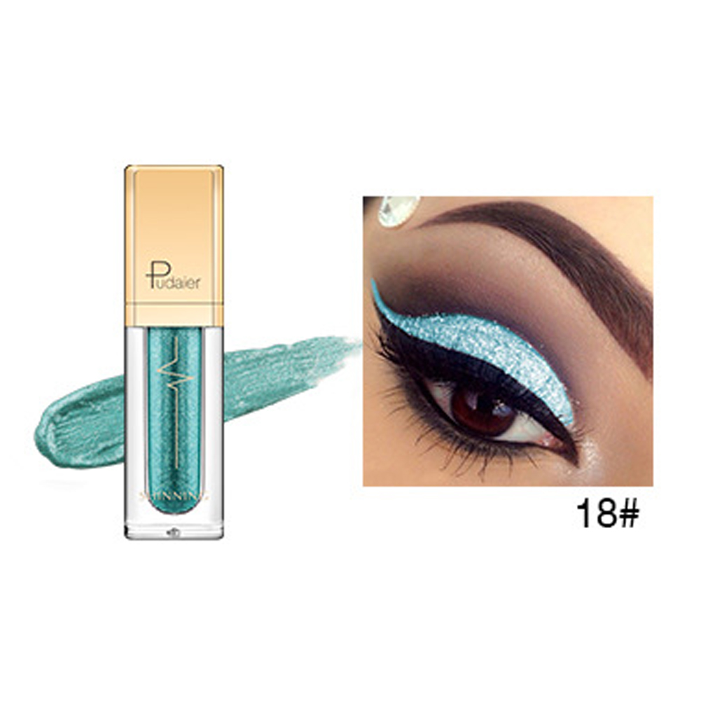Pro Makeup 18 Colors Liquid Eyeshadow Women Sexy Smoky Shimmer Metallic Glitter Eyeliner Eye Shadow фото