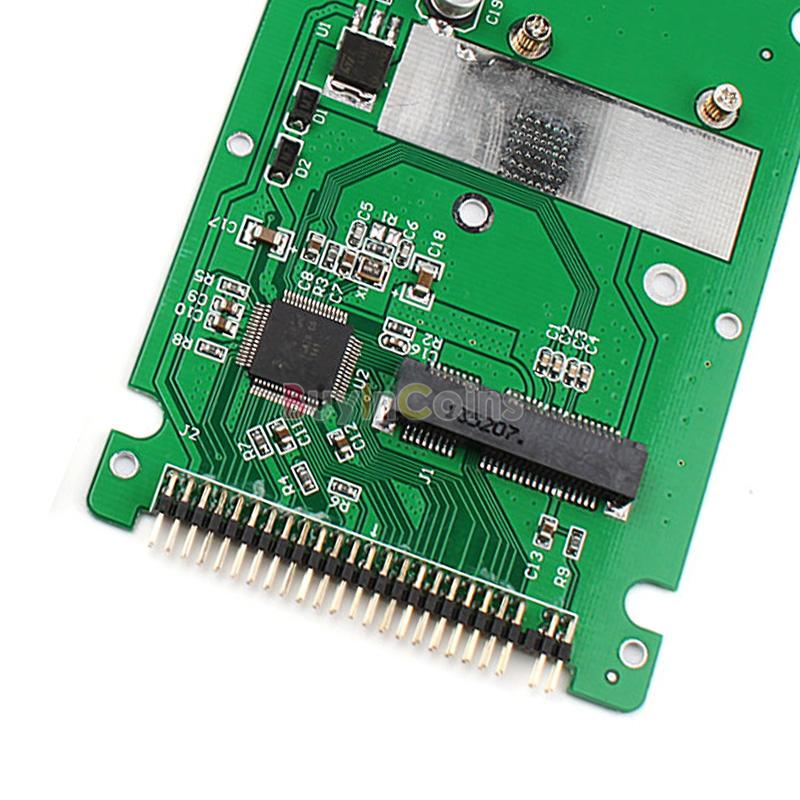 ST6008C Mini SATA mSATA SSD to 44pin IDE adapter with case as 2.5