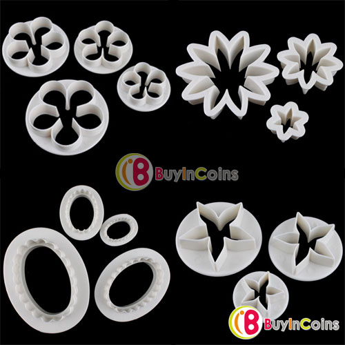 Oval Daisy Flower Rose Pentagram Cake Sugar Cutter Plunger Paste Fondant Sugarcraft Decorating фото