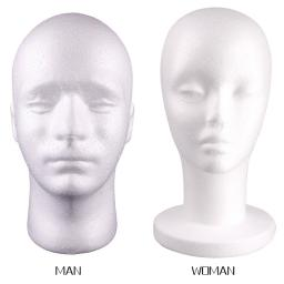 Male Female Styrofoam Mannequin Manikin Head Model Foam Wig Hair Hat Glasses Display