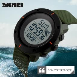 Fashion Mens Rubber LED Digital Waterproof Watch Date Military Quartz Outdoor Sport Wristwatches