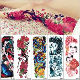 Big Large Full Arm Temporary Tattoo Sticker Beauty Decal Body Art Flowers Unisex