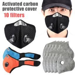 Dust Mask Reuseable Professional Activated Carbon Mesh Breathing Valve Mask Respirator with Filters for Women Men kids Working Outdoors Activities
